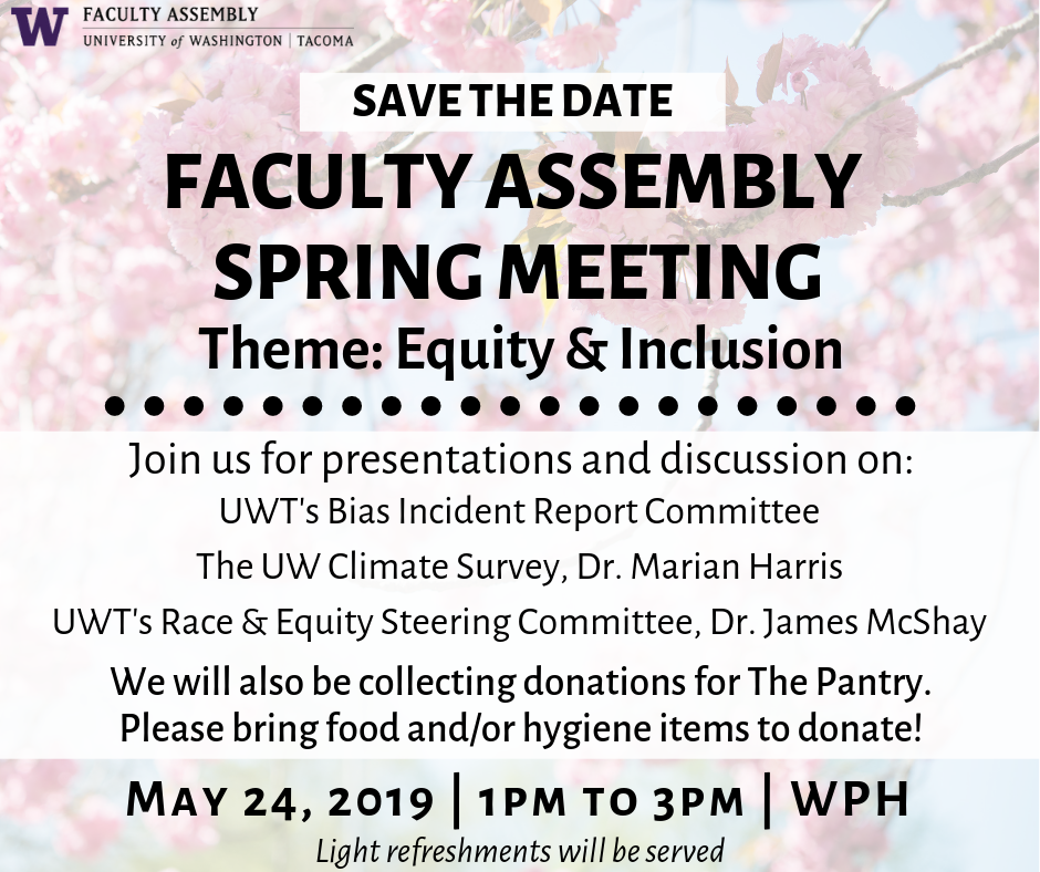 Flyer for Faculty Assembly Spring Meeting