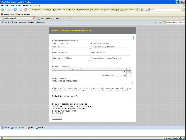 Browser-enabled Form Rendered in Firefox