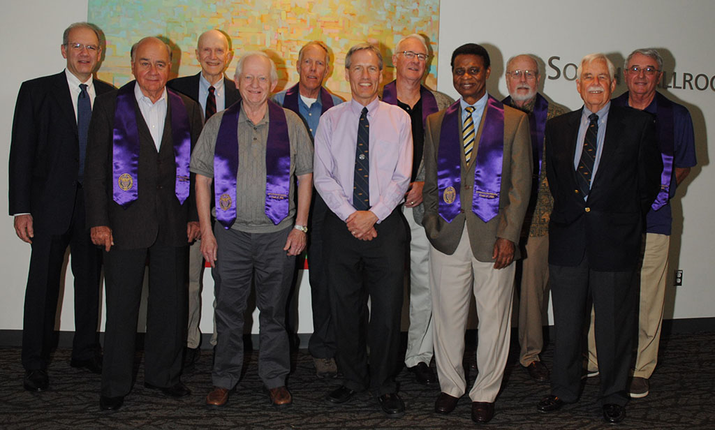 A Picture of the class of 1966 honorees.