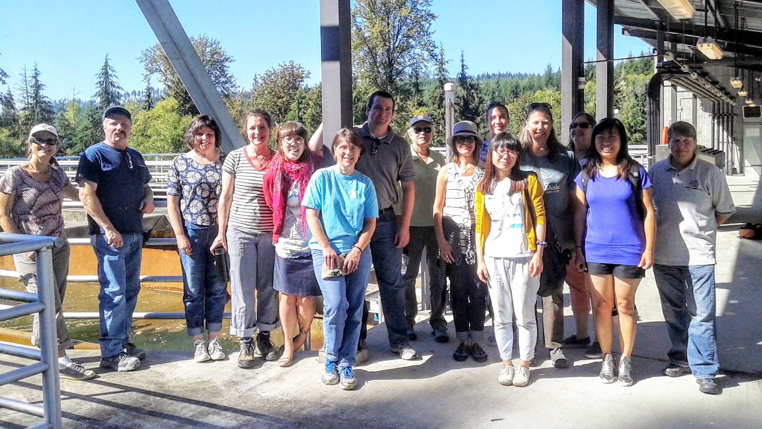 A Picture of Seattle-area teachers tour Seattle Public Utilities' Tolt River Water Treatment Plant during the WaterWorks summer program.