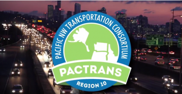 A Pactrans Logo Over Busy Highway