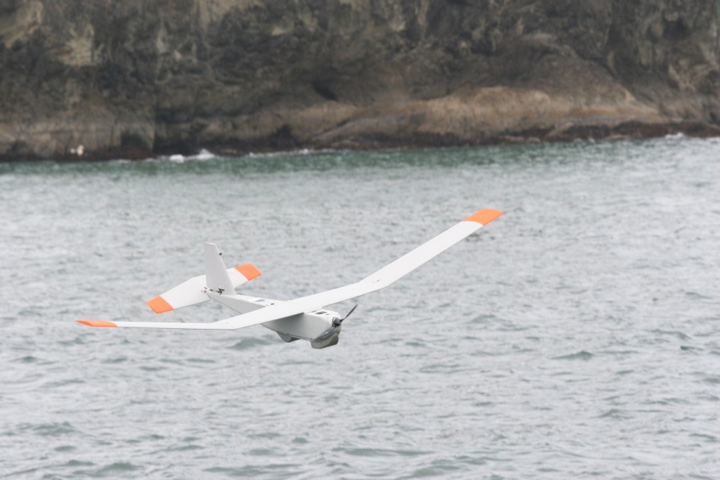 NOAA drone in flight. Photo Credit: Ed Bowlby / NOAA