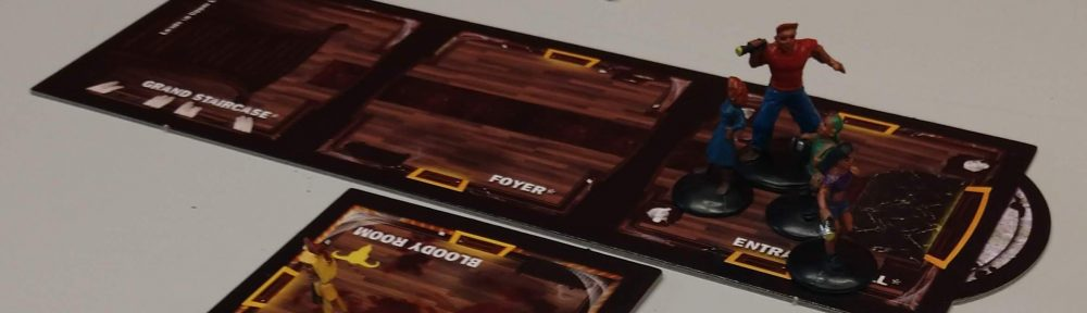Betrayal at the House on the Hill board game tiles and character pawns