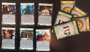 Dominion board game cards