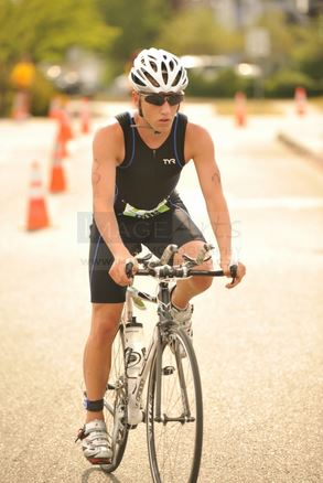 Scott competing in a triathlon.