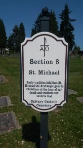 Calvary Cemetery, St. Michael marker