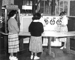 Home of the Good Shepherd, ice cream in summerhouse, 1957 Courtesy Archives Sisters of the Good Shepherd, Mid-Atlantic Province