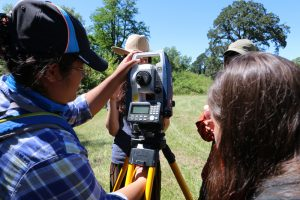 FMIA students setting up the Total station. Photo: Tiauna Cabillan