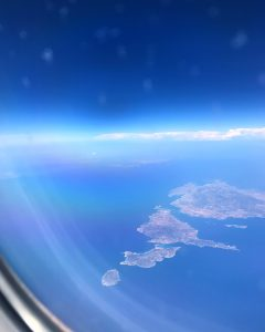 Photo of Greece from the air.