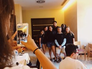 The JSIS Hellenic Study Aboard Branding Group created t-shirts to help create a brand for Nafplio.