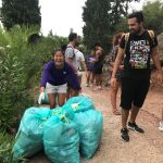Photo of student picking up litter at Palamidi Castle