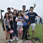 UWT students after a hike through the Liangshan Park in Taiwan.