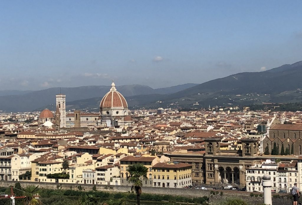 View of Florence, Italy from the Piazzale Michelangelo