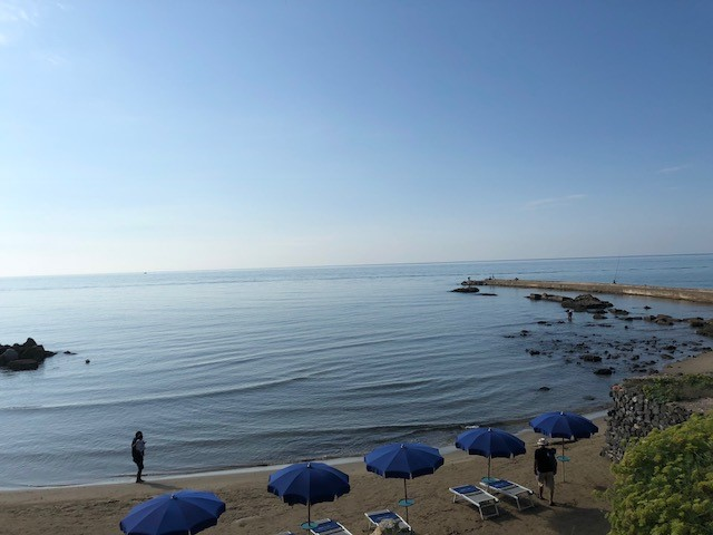 Anzio and the calming waves of the Tyrrhenian Sea.