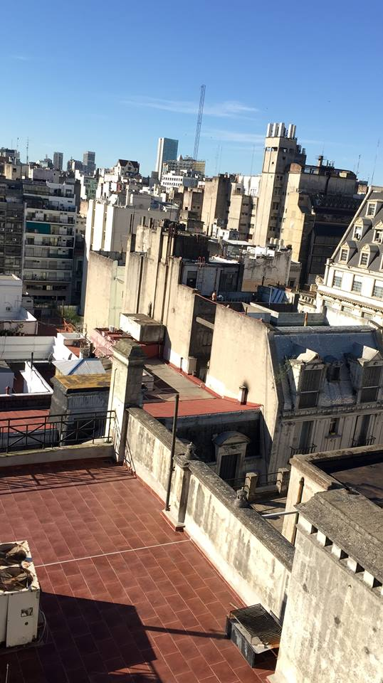 View of Buenos Aires from Miles's hostel rooftop