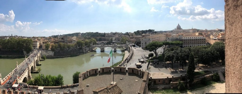Panoramic view of Rome from atop the Castel Sant'Angelo