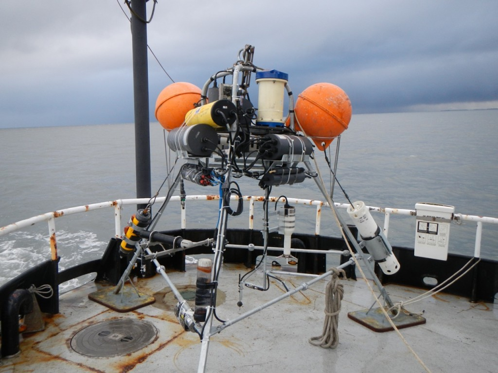 The primary tripod, ready for re-deployment at the Elwha