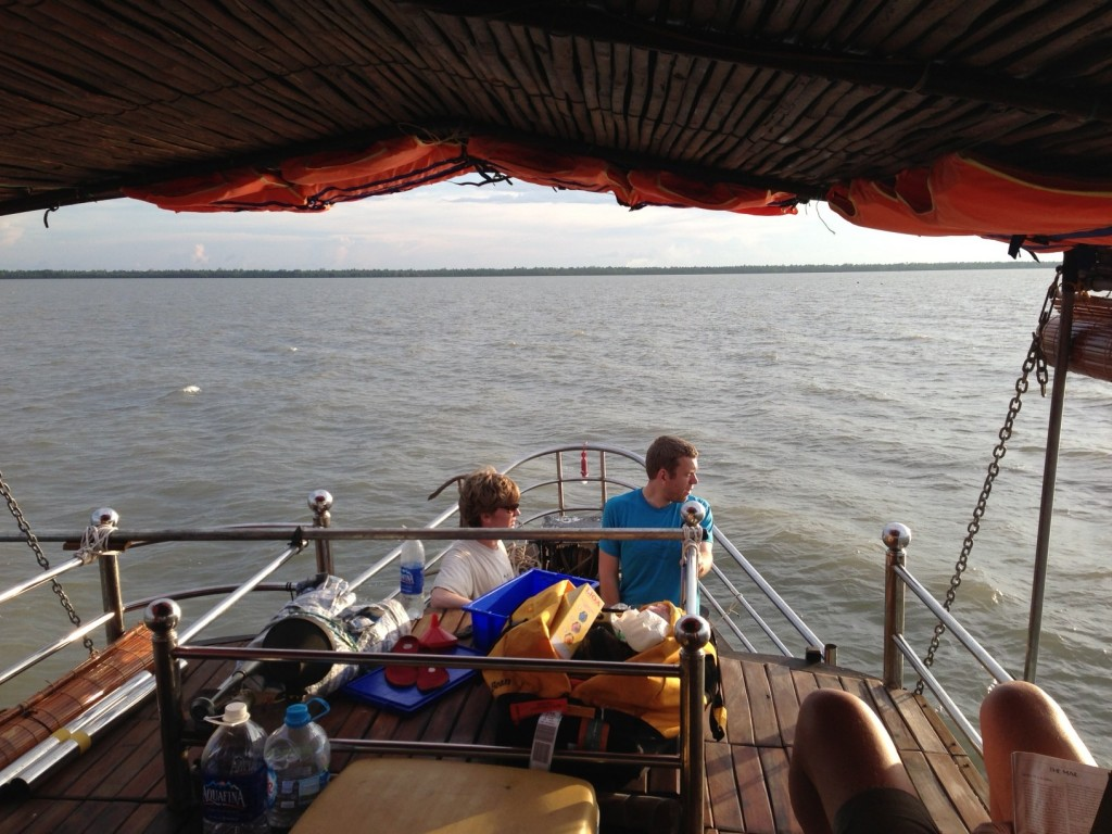 Fieldwork on the Mekong River