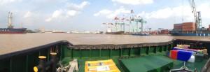 Saigon port seen from the shelf boat