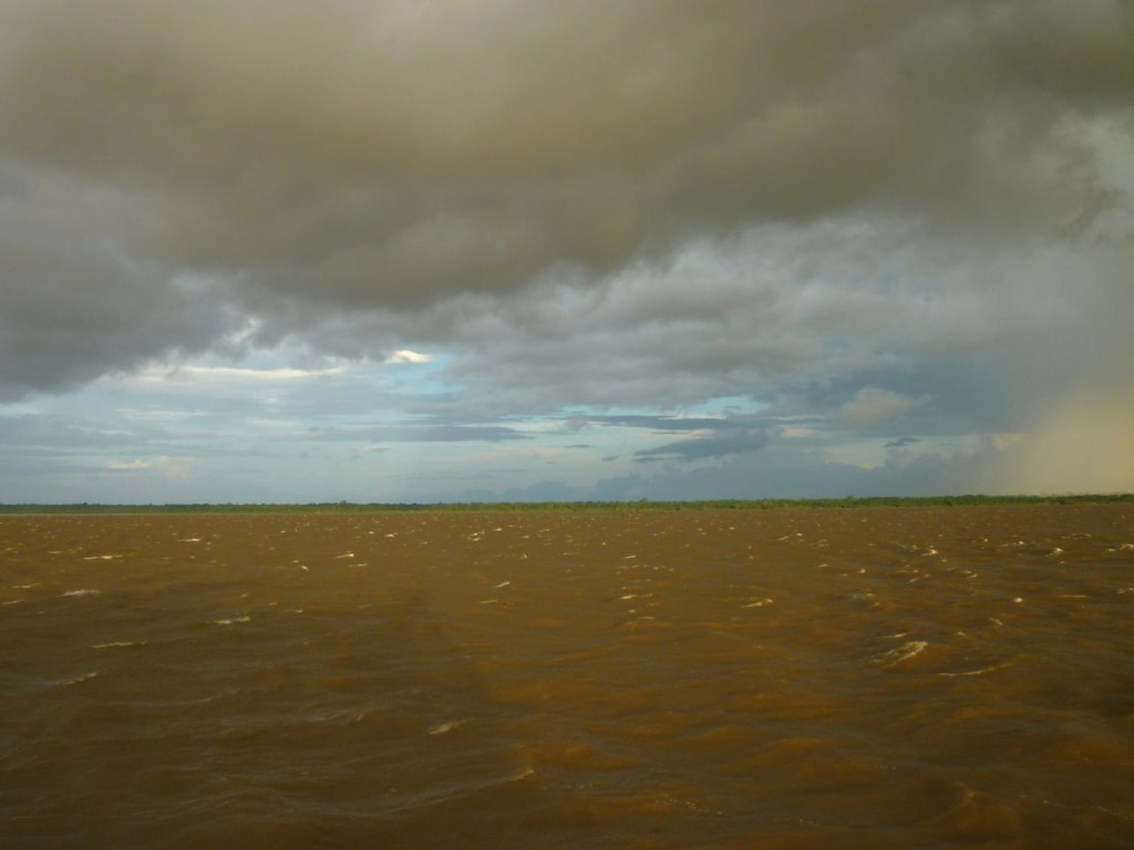 The muddy expanse of the Amazon