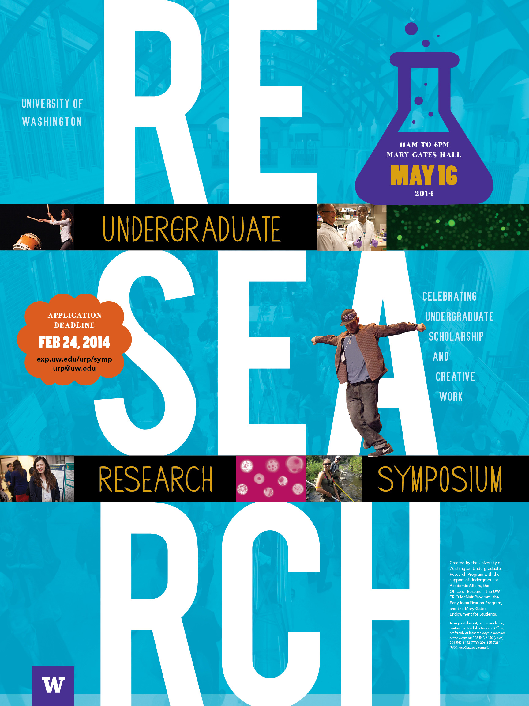 Poster design for symposium - 17th Annual Uw Undergraduate Research Symposium