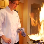 James cooking