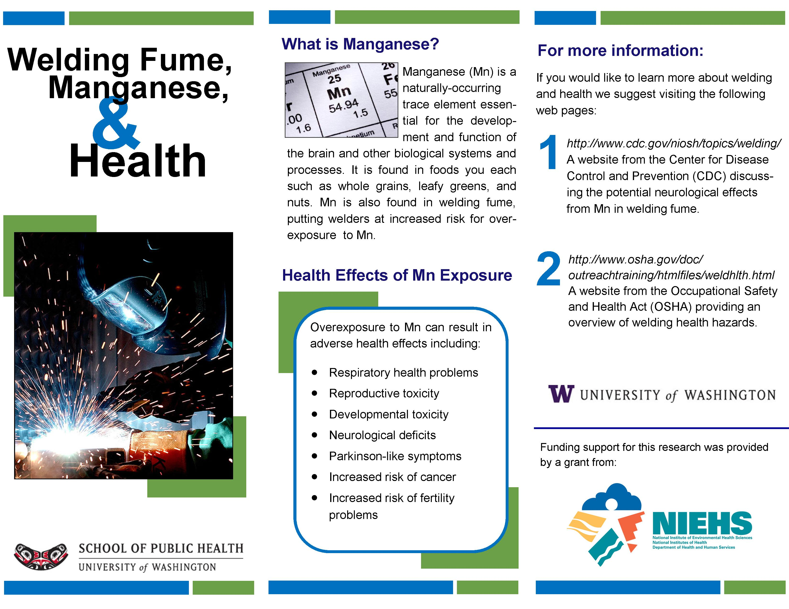 welding and health publisher brochure
