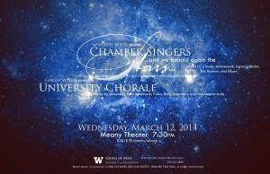 Winter 2014 Chamber Singers UW Chorale concert image